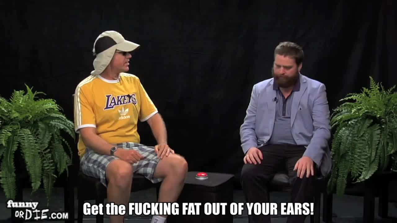 FoD, Will Ferrell Between Two Ferns with Zach Galifianakis, between two ferns, between two ferns with zach galifianakis, fod, funny or die, funnyoooordie, will ferrell, will ferrell between two ferns with zach galifianakis, zach galifianakis, I'M NOT THAT FAT GIFs