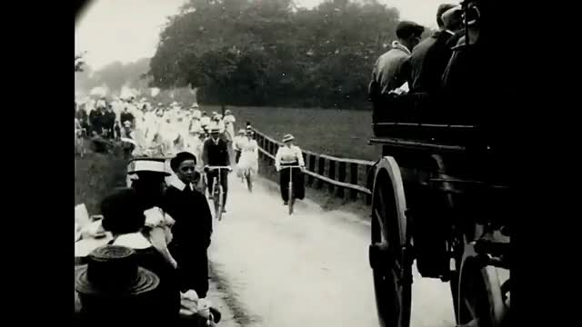 Watch and share June 1899 Victorian Time Machine - Ladies Cycling Display In London (Restored Film) GIFs on Gfycat