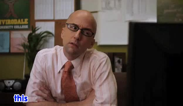 Watch and share Jim Rash GIFs and Dean GIFs by keithmac20 on Gfycat