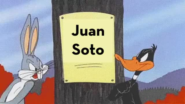 Watch and share Juan Soto Mike Trout Bugs Bunny Daffy Duck GIFs by efitz11 on Gfycat