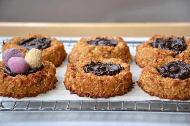 Watch and share Coconut Macaroon Nests - Adding Eggs GIFs on Gfycat