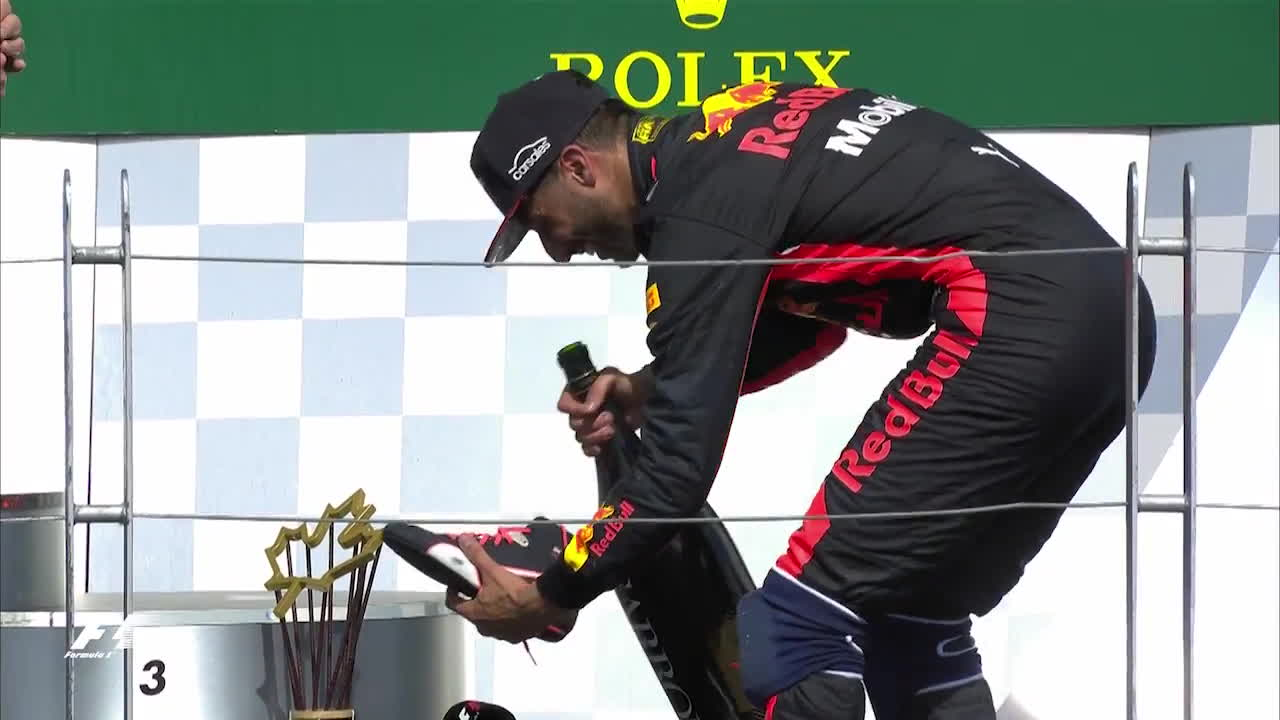 f1, formula 1, formula one, 2017 Canadian Grand Prix: Sir Patrick Stewart's Shoey GIFs