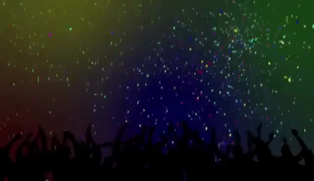 Watch and share Party Crowd Silhouettes & Confetti Looping Background GIFs on Gfycat