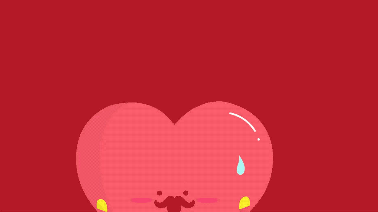 I love you, couple, cute, cutie, fall, for, heart, hearts, love, lover, mustache, red, sweet, together, valentine, you, Will you be my Valentine? GIFs