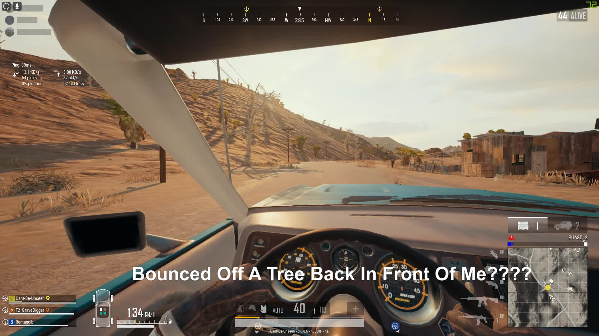 pubattlegrounds, pubg, Guy Bounced Off A Tree Back In Front Of My Car xDDD GIFs