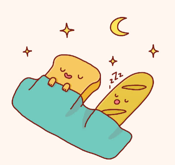 bed, bread, good, good night, goodnight, night, sleep, sleepy, toast, zzz, Good night  GIFs