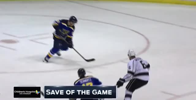 Watch and share Doughty Makes A Save On Tarasenko GIFs by ericburger on Gfycat