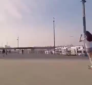 Girl's smooth-as-silk long boarding skills GIFs