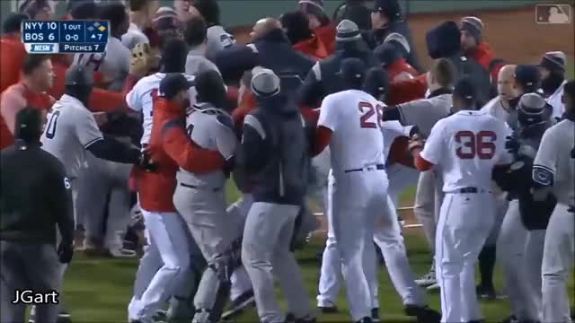 Watch this trending GIF on Gfycat. Discover more 2018, All Tags, Baseball, ComeOn, JK56COMEONchallenge, MLB, RedSox, Yankees, brawl, mission108 GIFs on Gfycat