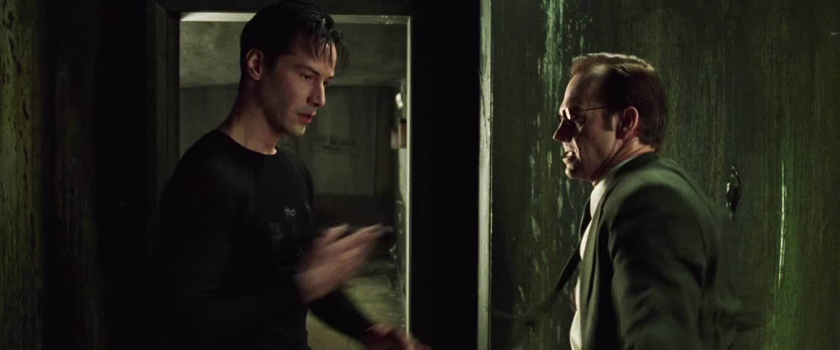 agent, agent smith, fight, keanu reeves, the matrix, The Matrix - Easy fight GIFs