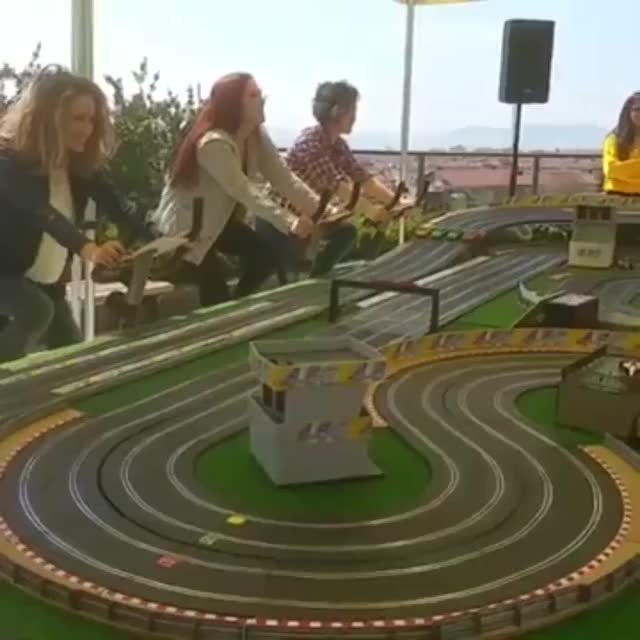 Watch and share Bicycle Powered Slot Car Racing GIFs on Gfycat