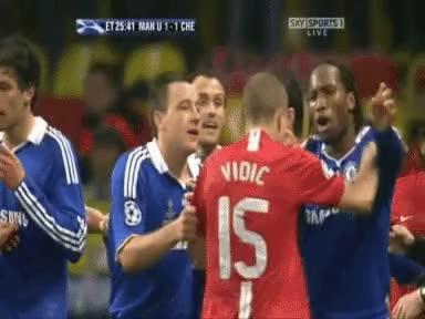 Watch and share Vidic: I Hated Taking On Drogba More Than Torres | FourFourTwo GIFs on Gfycat