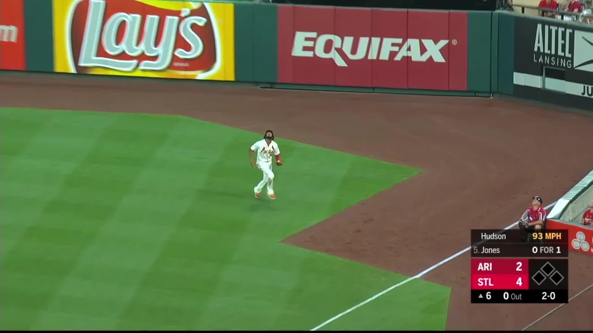 arizona diamondbacks, baseball, cardinals, st. louis, Jose Martinez taps ball man on head. GIFs
