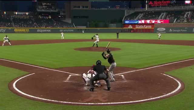 Watch marlins jt riddle loses bat GIF by Ely Sussman (@realely) on Gfycat. Discover more atlanta, baseball, bat, braves, funny, highlights, jt riddle, marlins, mike foltynewicz, mlb, swing GIFs on Gfycat