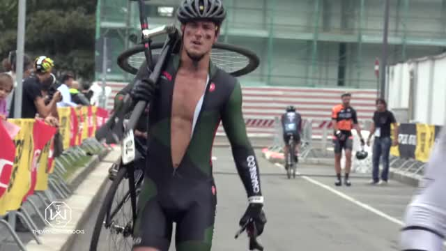 Watch and share Angry Cyclist Destroys His Bike At Red Hook Milano 2016 GIFs on Gfycat