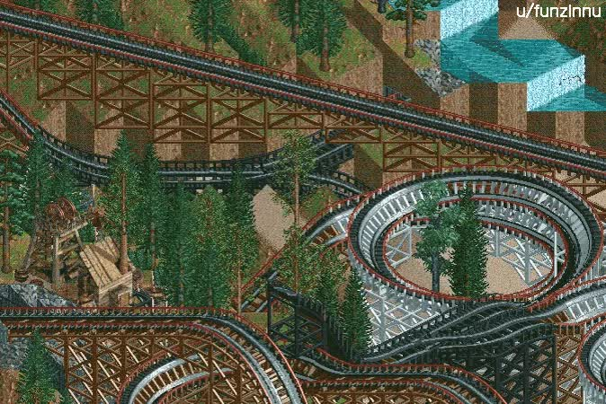 [openRCT2] switchback coaster : rct GIFs