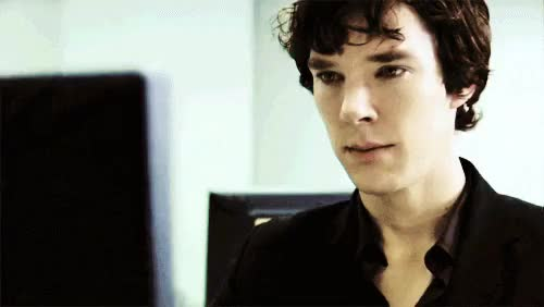 Watch and share Sherlock Grin GIFs on Gfycat