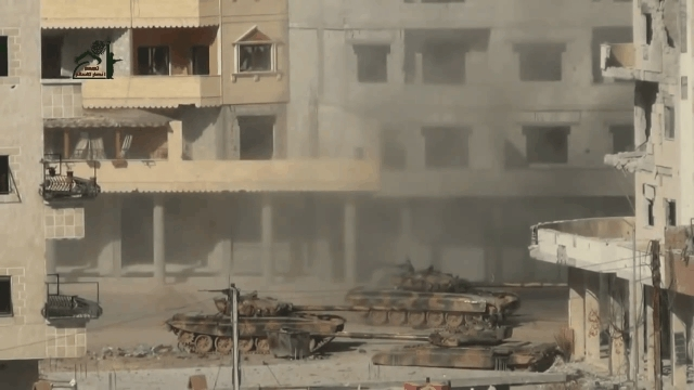 CombatFootage, combatfootage, RPG-23 ammo racks a Syrian tank (reddit) GIFs