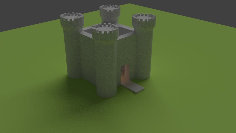 Daily3D, daily3d, Castle Model GIFs
