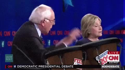 Watch and share Hillary Clinton GIFs and Bernie Sanders GIFs on Gfycat