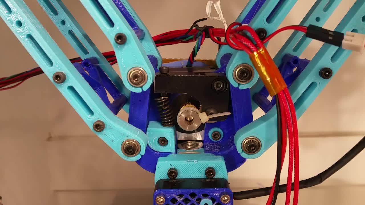 3D Printer, 3D Printing, Deltesian, Forward and Backwards w/ Y Movement GIFs