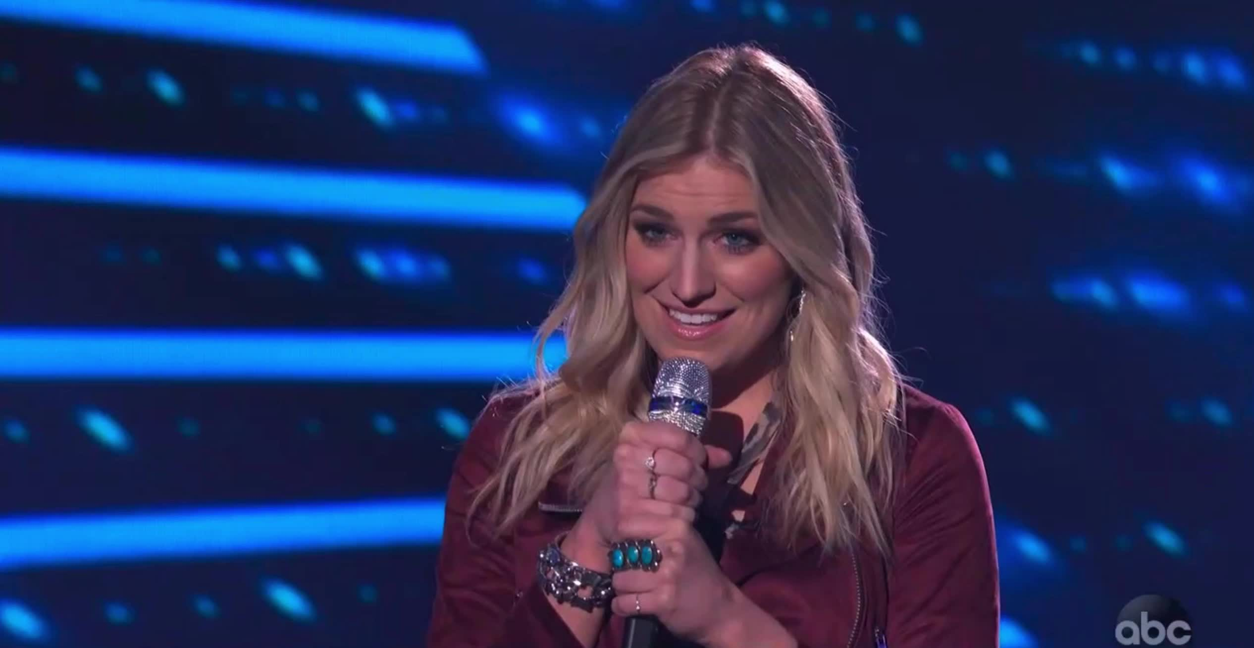 american idol, american idol season 17, americanidol, ashley hess, katy perry, lionel richie, luke bryan, ryan seacrest, season 17, thank you, thanks, American Idol Ashley Thank You GIFs