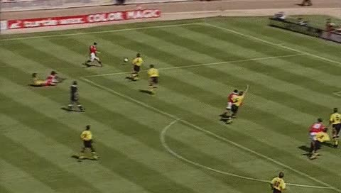 Watch and share Mark Hughes. Manchester United - Arsenal. 07.08.1993 GIFs by fatalali on Gfycat