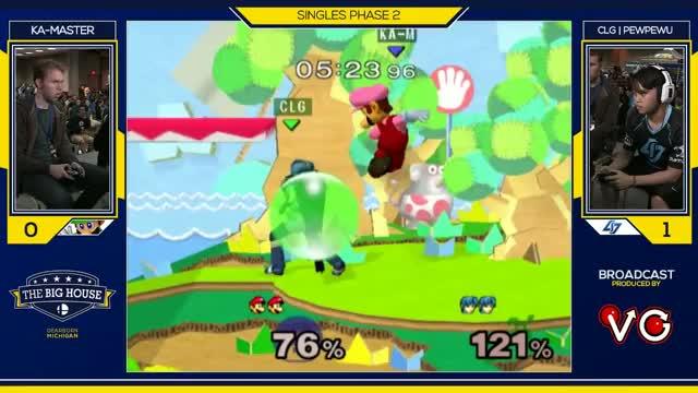 TBH6 SSBM - CLG | PewPewU (Marth) Vs. Ka-Master (Luigi) - Smash Melee Pools