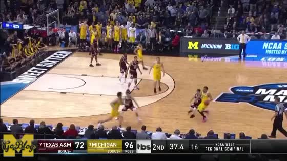 Watch and share Celebration GIFs and Basketball GIFs by MGoBlog on Gfycat