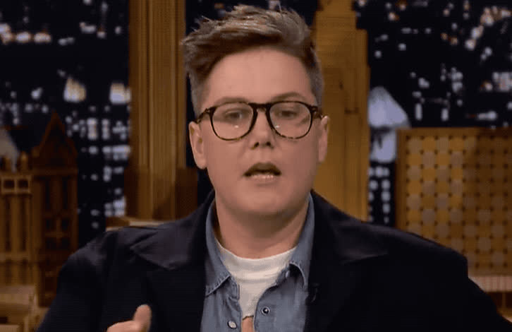 blush, fallon, gadsby, god, hannah, jimmy, my, no, oh, omg, open, really, say, scary, seriously, show, tonight, unbelievable, way, what, Hannah Gadsby - OMG GIFs