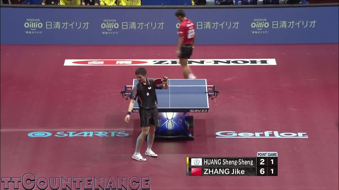 sports, tabletennis, Zhang Jike slow motion Reverse Pendulum serve (reddit) GIFs