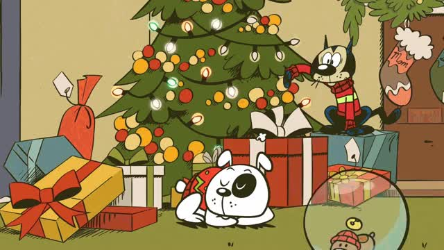 Watch this boxing day GIF by GIF Queen (@ioanna) on Gfycat. Discover more cartoon, cat, christmas, dog, gifts, holiday, holidays, network, play, presents, sleep, spirit, time, tree, xmas GIFs on Gfycat