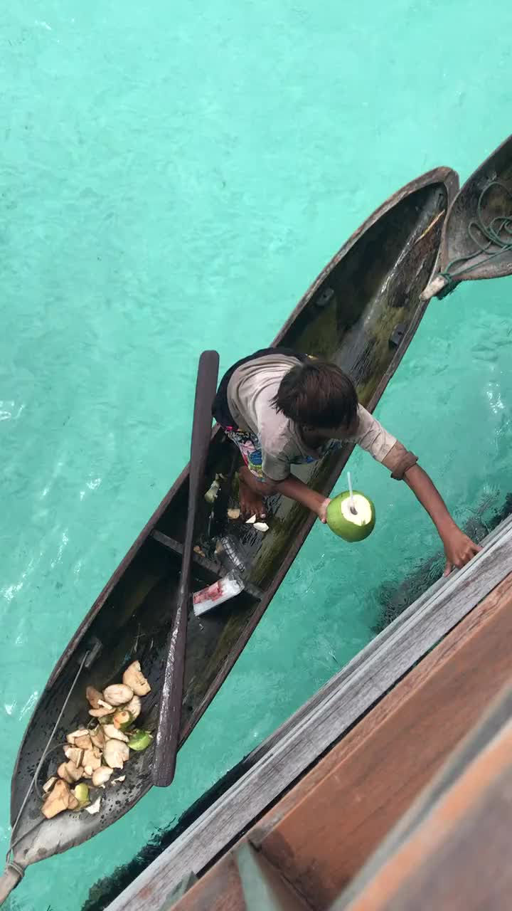 A coconut costs only 5. They really work hard. GIFs