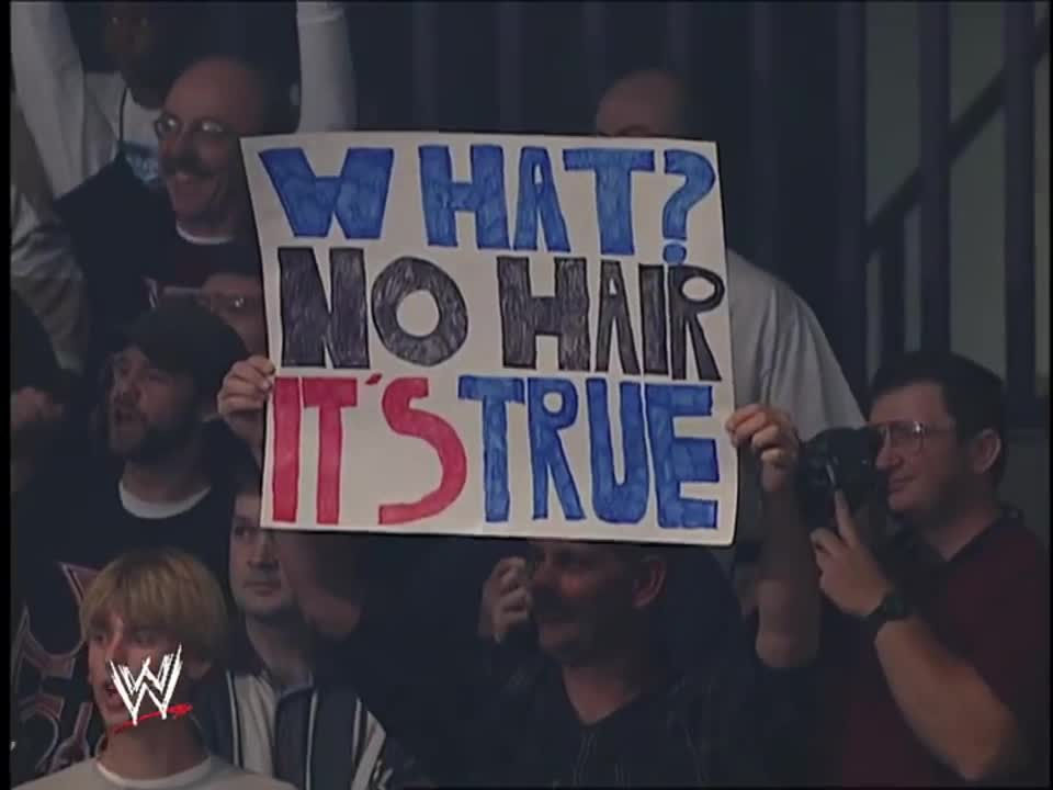 Kurt Angle's first appearance after losing the hair vs hair match