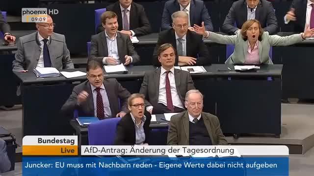 Watch Bundestag: Antrag der AfD auf Änderung der Tagesordnung am 23.03.2018 GIF on Gfycat. Discover more All Tags, GE, afd, antrag, bundestag, erweiterung, eu, fernsehen, information, kohlendioxidemissionen, nachrichten, personenkraftwagen, phoenix, politik, senkung, subsidiarit, tagesordnung, tsr, tv, verordnung GIFs on Gfycat