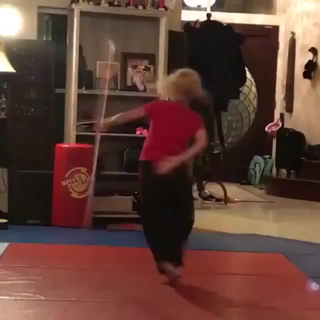 Girl has some serious bow staff moves GIF by tothetenthpower