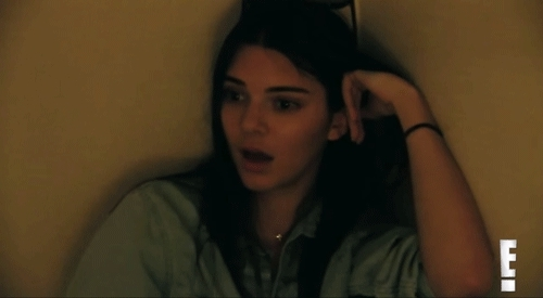 celebs, kardashian, keeping up with the kardashians, kendall, kendall jenner, model, sexy, kendall jenner shocked open mouth GIFs