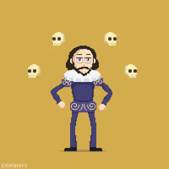 Watch and share William Shakespeare GIFs and Artist On Tumblr GIFs on Gfycat