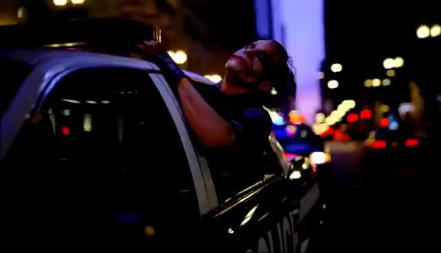 Watch and share Dark Knight Joker Driving Police Car Scene GIFs on Gfycat