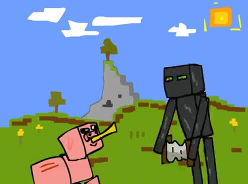 Watch Derp Enderman GIF on Gfycat. Discover more Enderman, Minecraft, grass GIFs on Gfycat