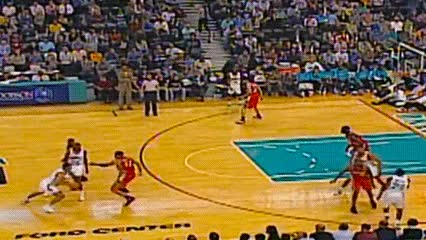 Watch and share Peja Stojaković — New Orleans/Oklahoma City Hornets GIFs by Off-Hand on Gfycat