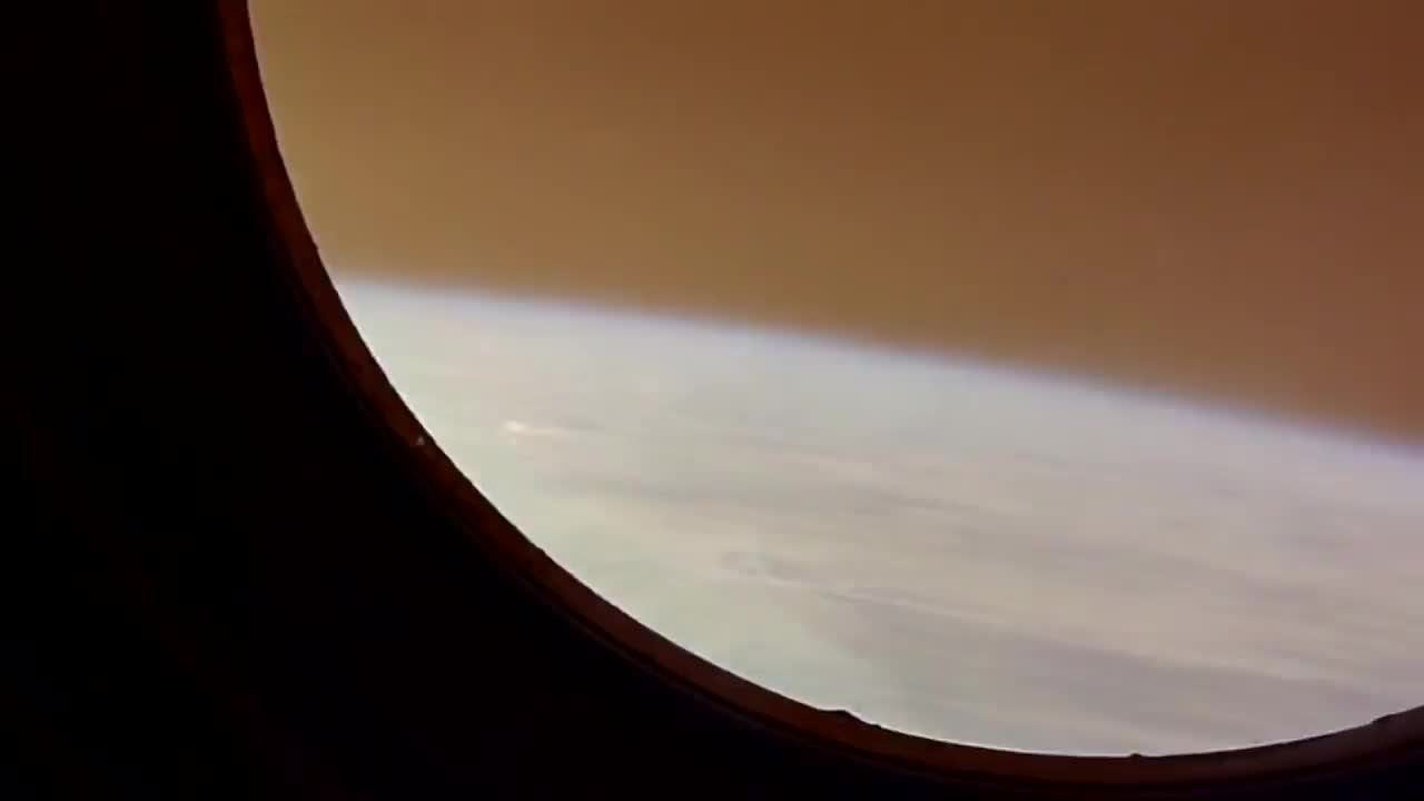 What astronauts see upon reentry GIFs