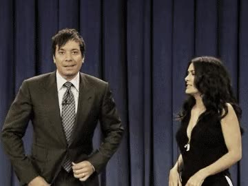Watch and share Jimmy Fallon GIFs and Salma Hayek GIFs on Gfycat