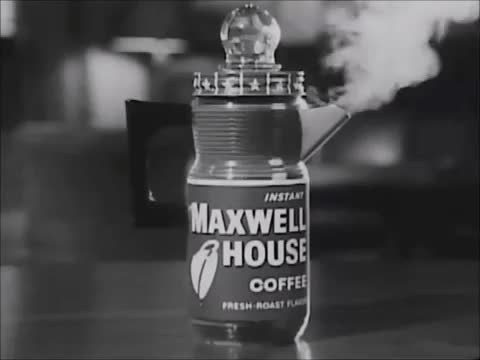 Watch Perked Coffee: Via Maxwell House Coffee Ad (1960s) Marc Rodriguez GIF by Marc Rodriguez (@marcrodriguez) on Gfycat. Discover more 1960s, black and white, brewing, coffee, coffee ad, fresh coffee, good morning, macwell house, percolate, percolating, perked, steam, vintage GIFs on Gfycat
