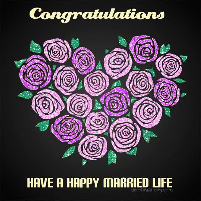 Watch and share Wedding Congratulation Cards.- Have A Happy Married Life! GIFs on Gfycat