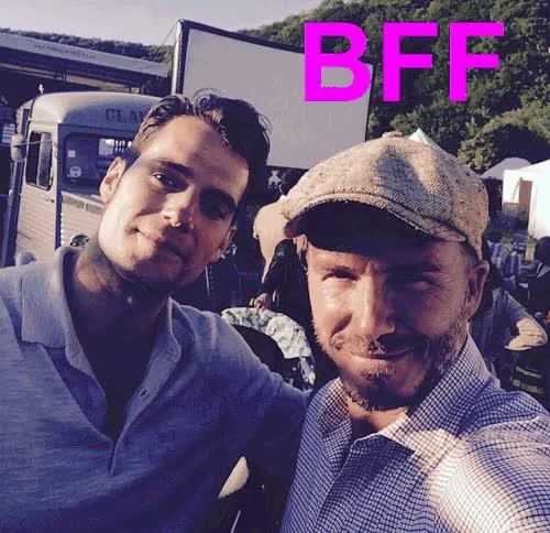 Watch and share David Beckham GIFs and Henry Cavill GIFs on Gfycat