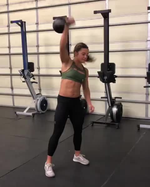 fit, fitness, kettlebell, strong, workout, Carrie Lynn Beamer GIFs