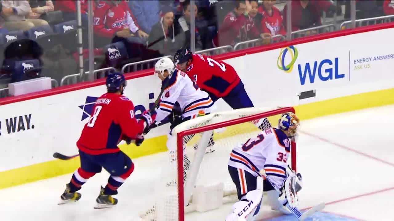alex ovechkin, capitals, hockey, washington capitals, Alex Ovechkin hit on Kris Russell GIFs
