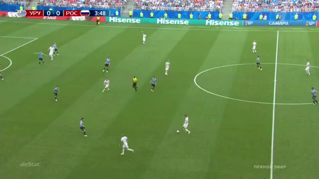 Watch and share 25.06.2018 - Uruguay 3 0 Russia - Match In Ball In Play  Mode - 1st Half, 3 57 - 4 8 GIFs on Gfycat