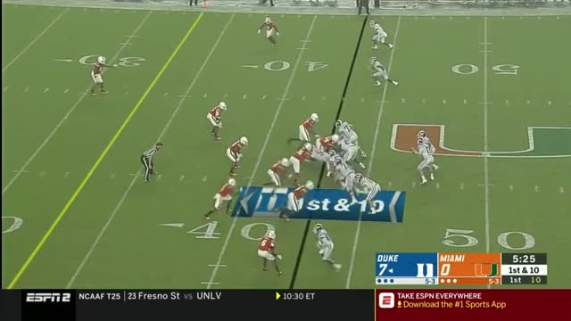 Watch Daniel Jones (Duke QB) vs. Miami (2018) GIF on Gfycat. Discover more Caddy to the Lama, Film & Animation, Wondershare Filmora, football GIFs on Gfycat